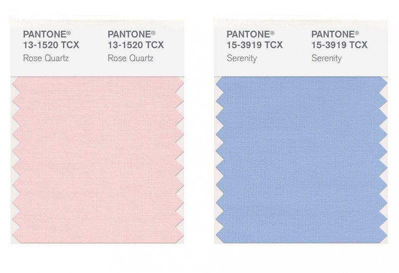 rose quartz e serenity colori pantone 2016
