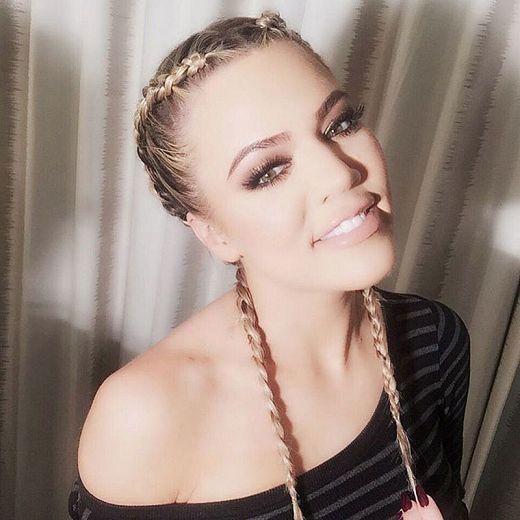 khloe kardashian trecce boxer braid