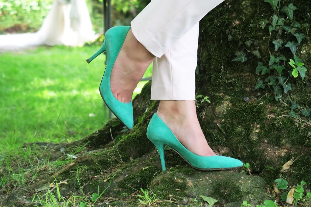 scarpe verdi pastello