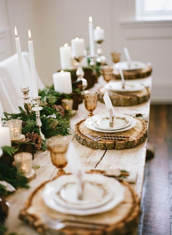 rustico tavola di natale